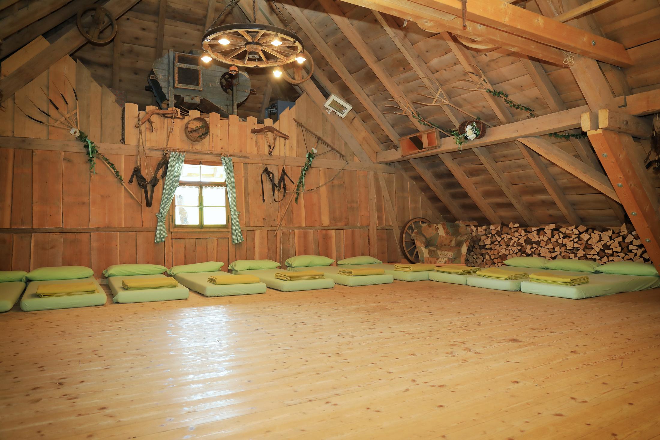 Matratzenlager  Gruppenunterkünfte und Jugendherbergen im Hotzenwald im Schwarzwald